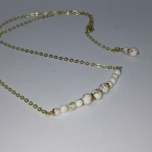 Jewelry - Minimalist Faceted White Turquoise Necklace
